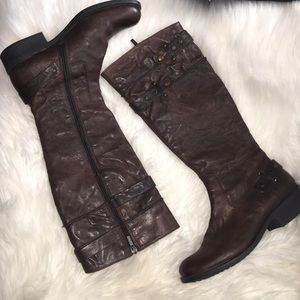 Geox  leather riding boots sz 6